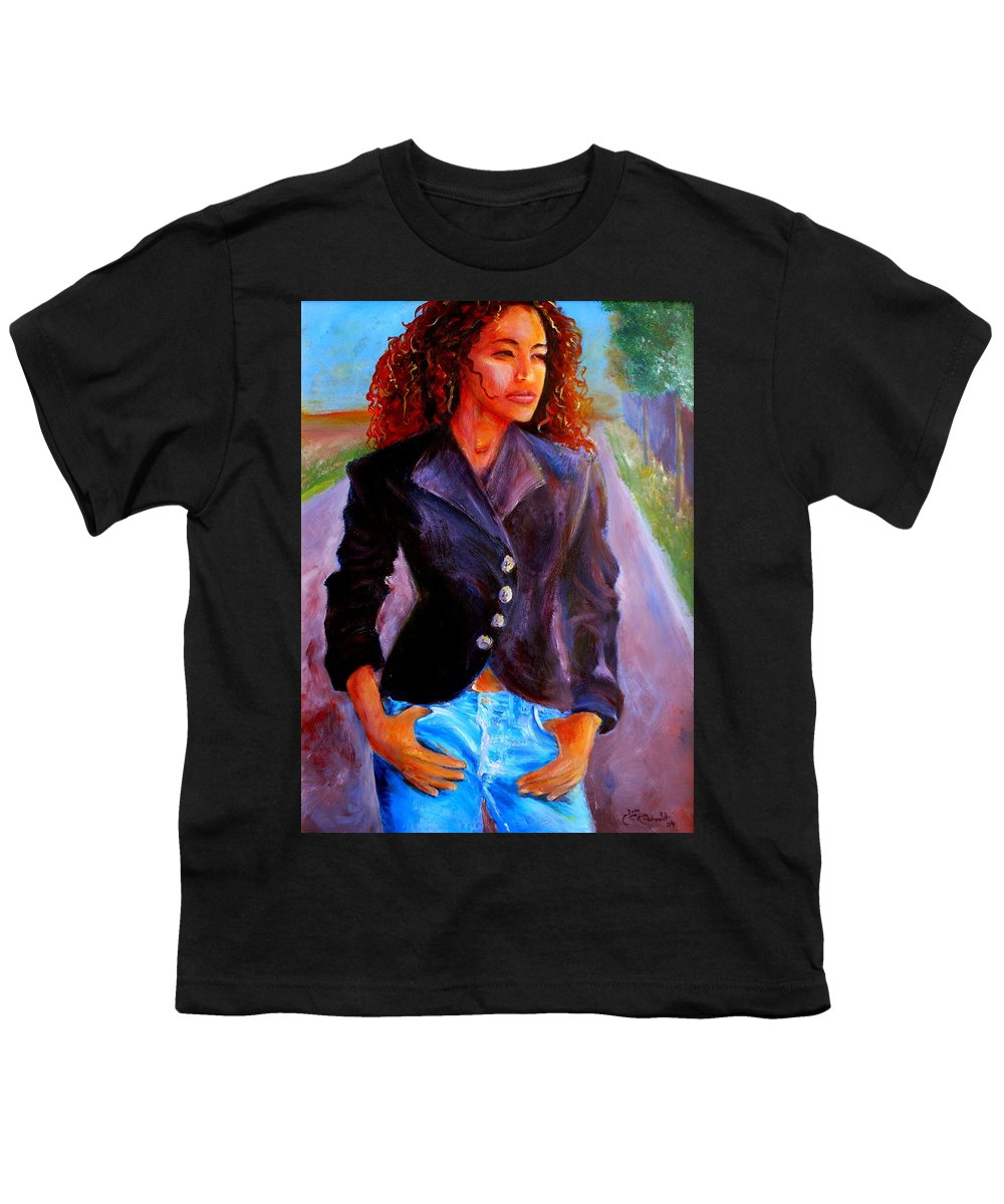 Acrylic Youth T-Shirt featuring the painting Sharice by Jason Reinhardt