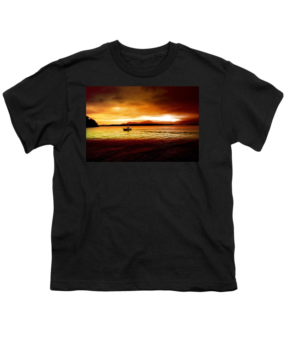 Landscape Youth T-Shirt featuring the photograph Shores Of The Soul by Holly Kempe