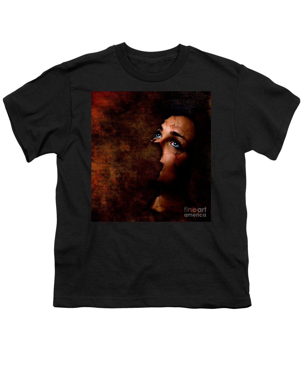 Surreal Youth T-Shirt featuring the digital art Silenced by Jacky Gerritsen