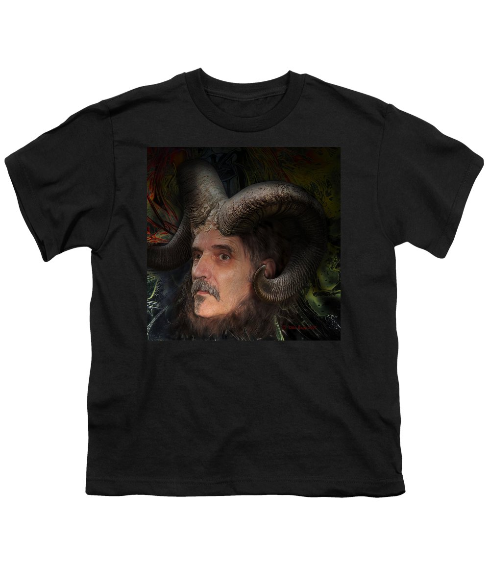 Surrealism Youth T-Shirt featuring the digital art Silenus by Otto Rapp