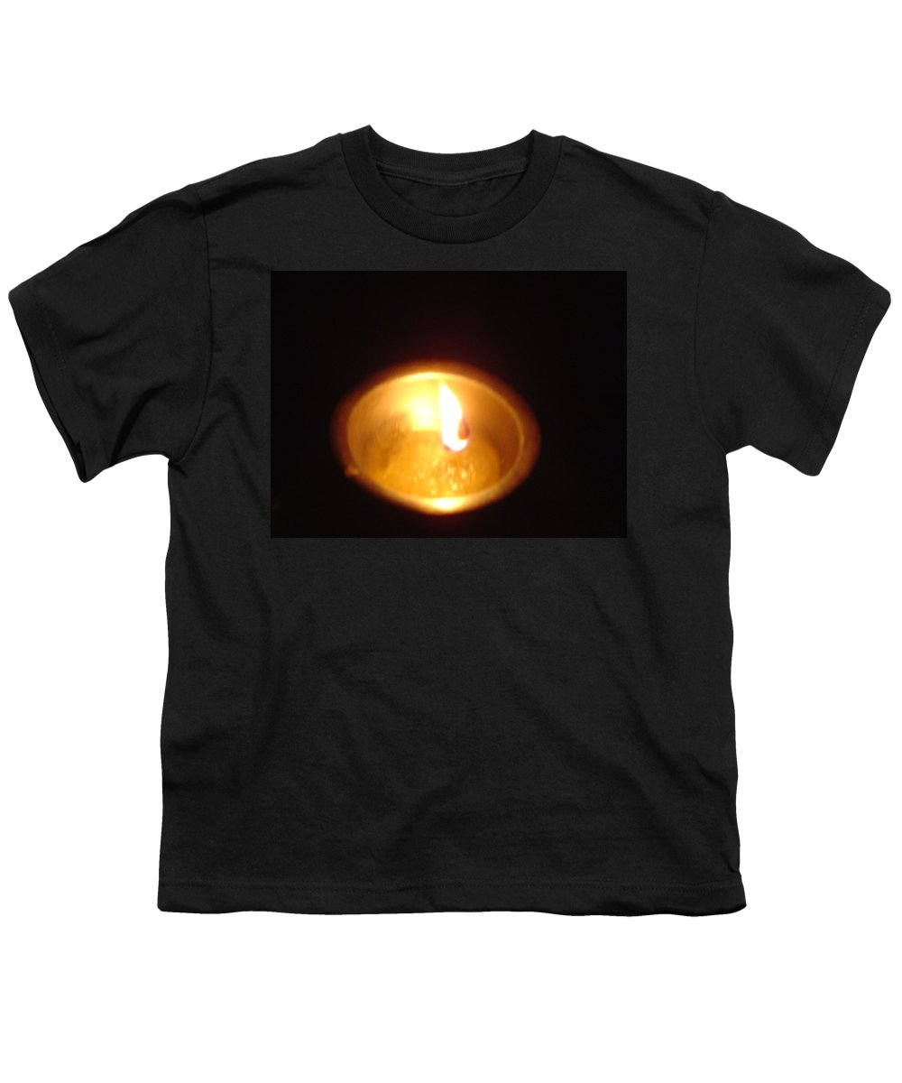 Indian Youth T-Shirt featuring the photograph Silver Lamp by Usha Shantharam