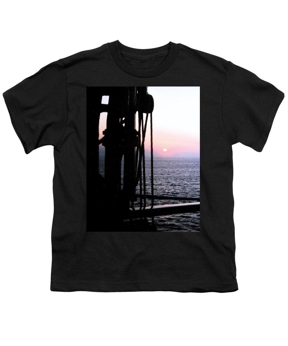Ship Youth T-Shirt featuring the photograph Sinking Sun by Ian MacDonald