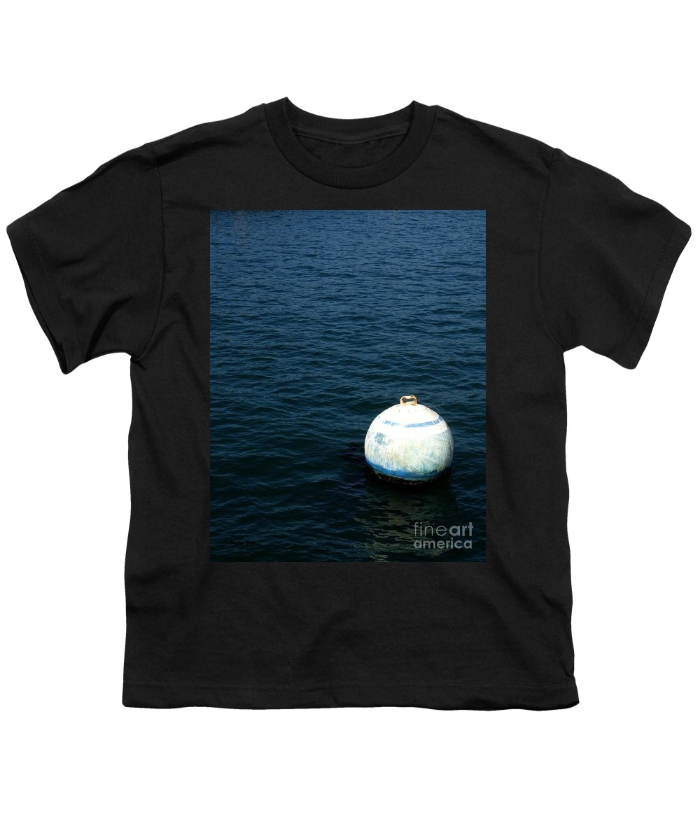 Seascape Youth T-Shirt featuring the photograph Sit And Bounce by Shelley Jones