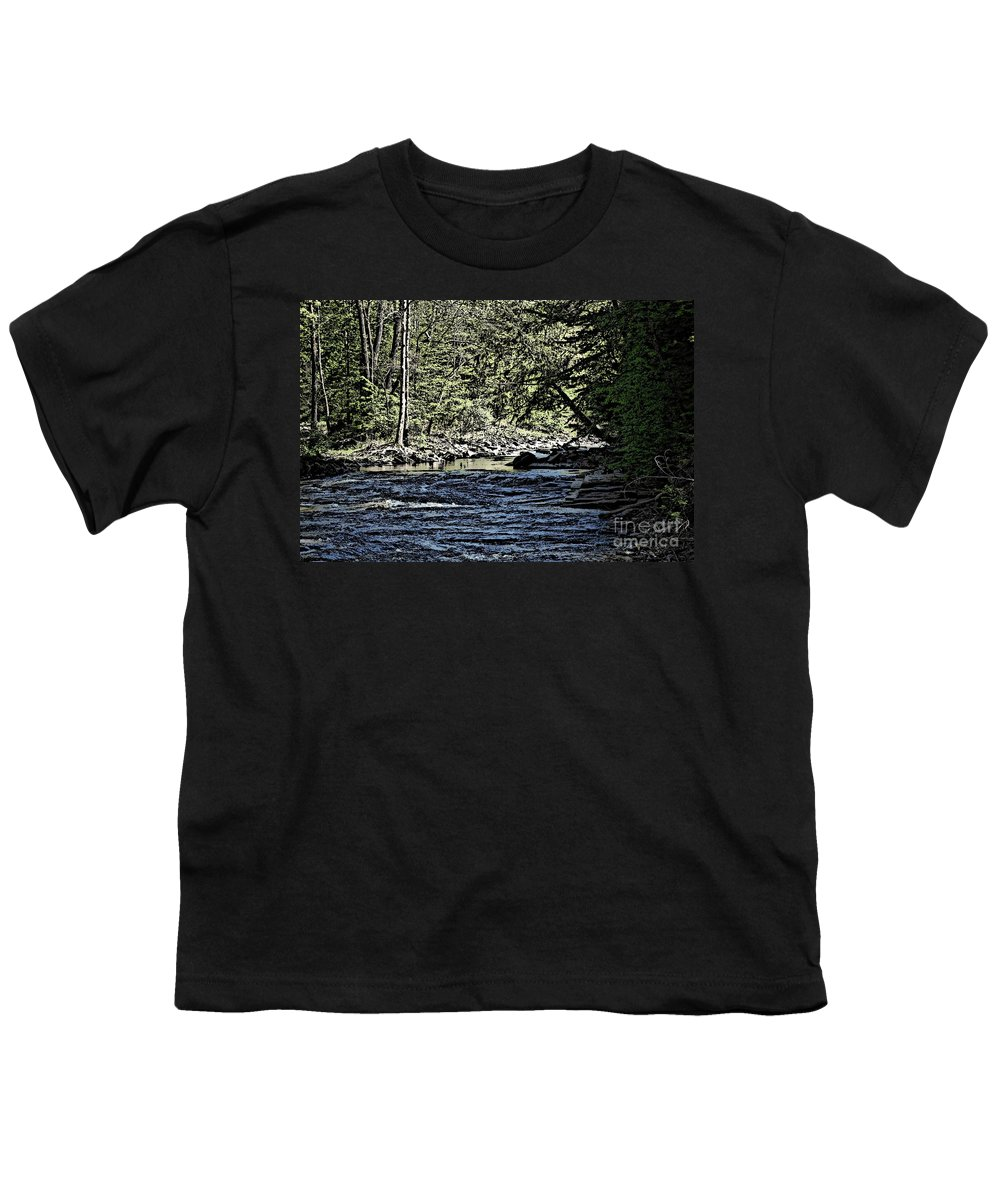 Landscape Youth T-Shirt featuring the photograph Six Mile Creek Ithaca Ny by David Lane