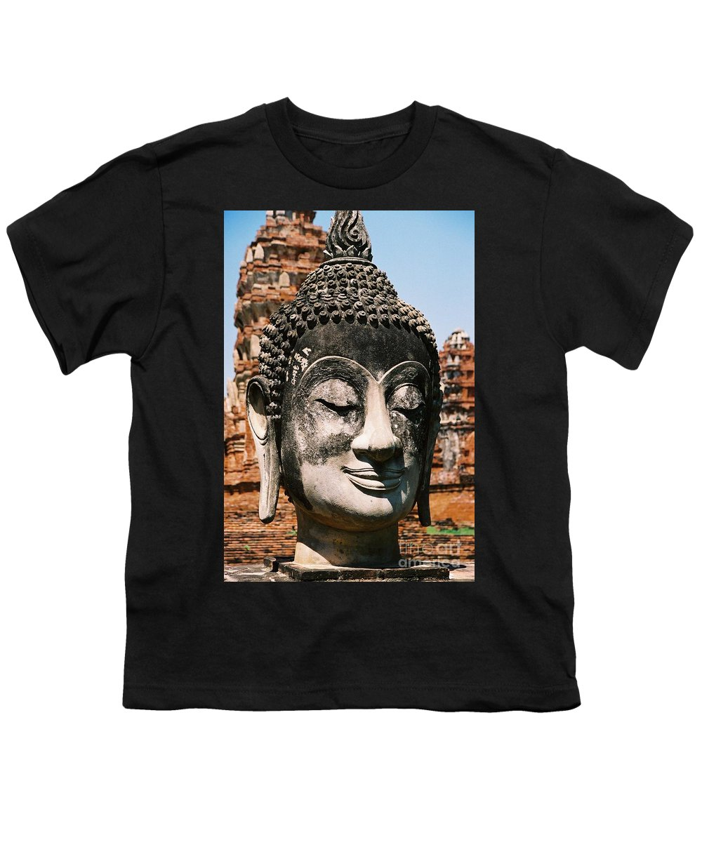 Statue Youth T-Shirt featuring the photograph Sleepy Face by Mary Rogers