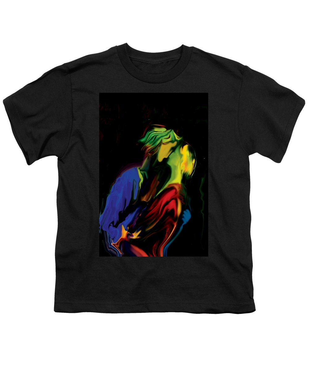 Black Youth T-Shirt featuring the digital art Slow Dance by Rabi Khan