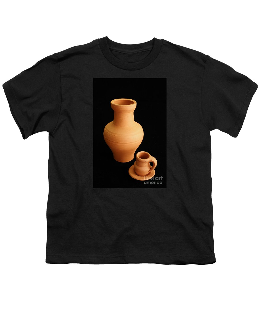 Ceramics Youth T-Shirt featuring the photograph Small Pottery Items by Gaspar Avila