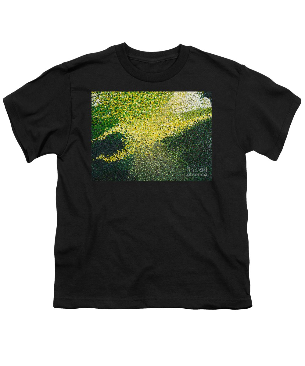 Abstract Youth T-Shirt featuring the painting Soft Green Light by Dean Triolo