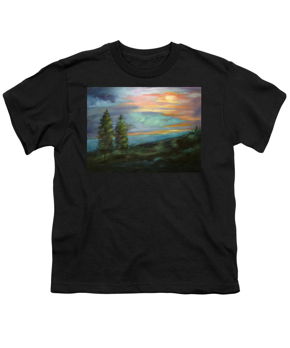 Landscape Youth T-Shirt featuring the painting Soledad by Ginger Concepcion