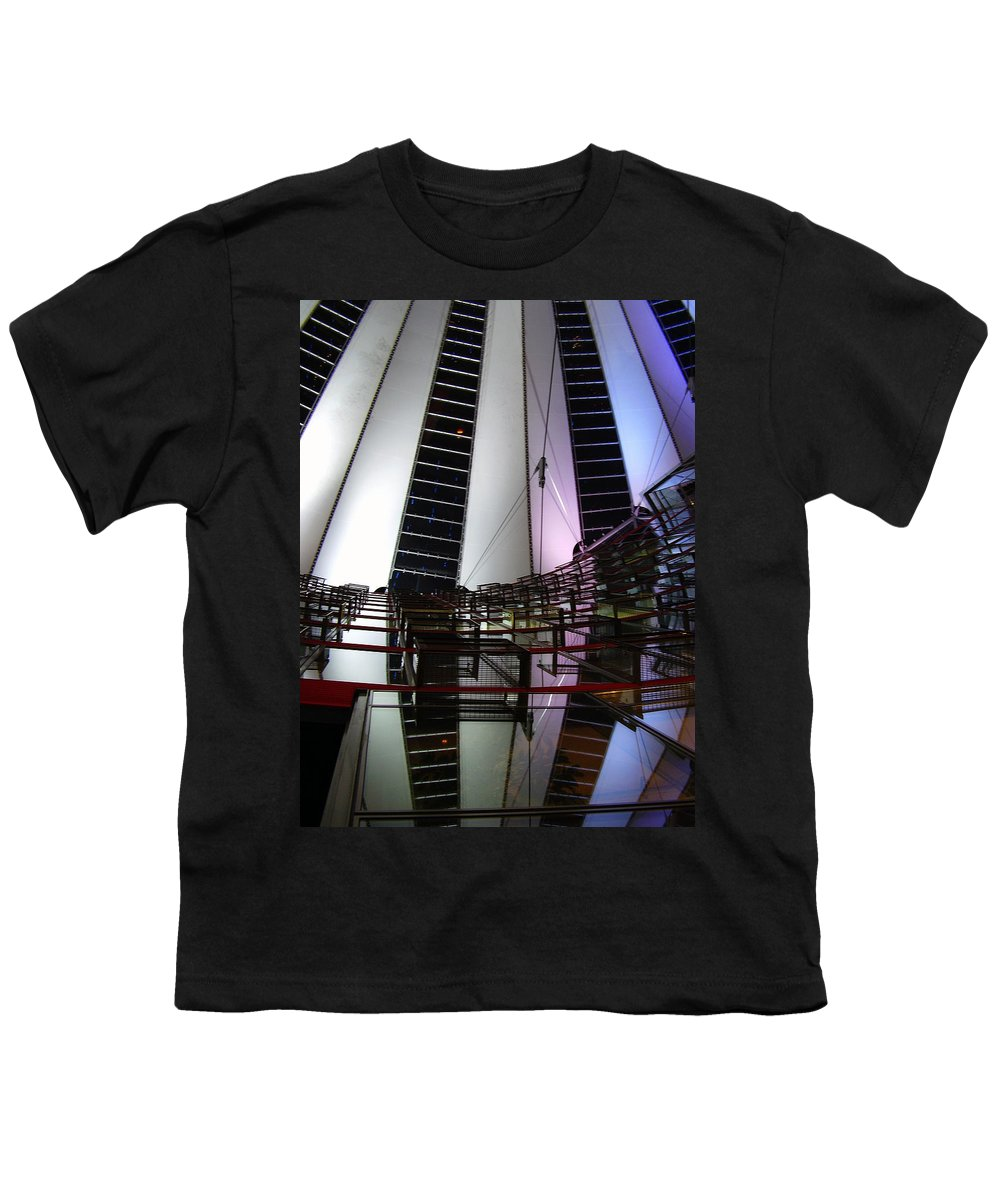 Sony Center Youth T-Shirt featuring the photograph Sony Center II by Flavia Westerwelle