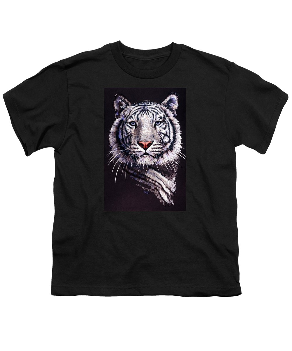 Tiger Youth T-Shirt featuring the drawing Sorcerer by Barbara Keith