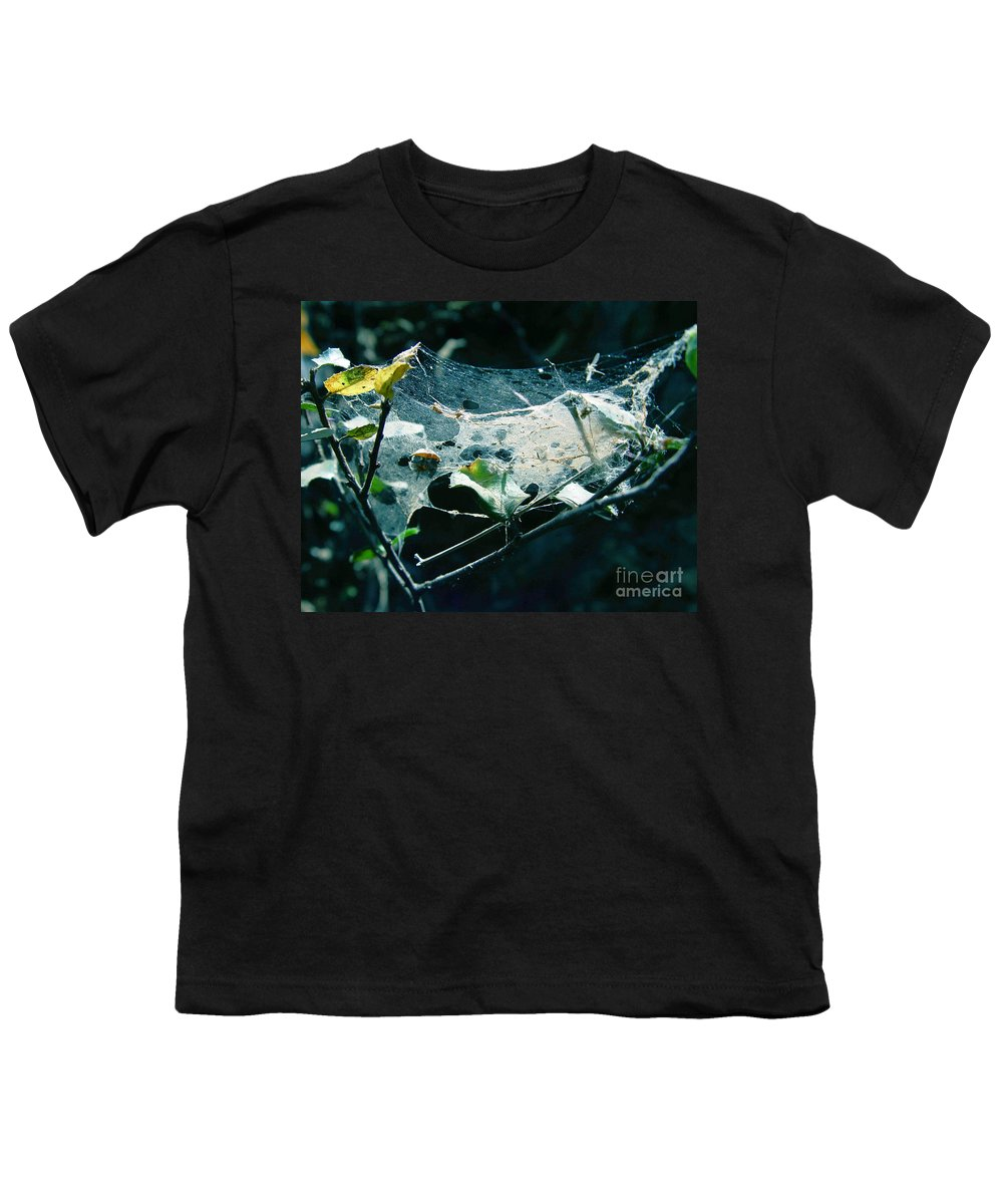 Spider Youth T-Shirt featuring the photograph Spider Web by Peter Piatt