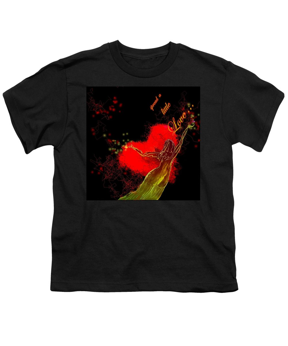 Love Youth T-Shirt featuring the painting Spread A Little Love by Miki De Goodaboom