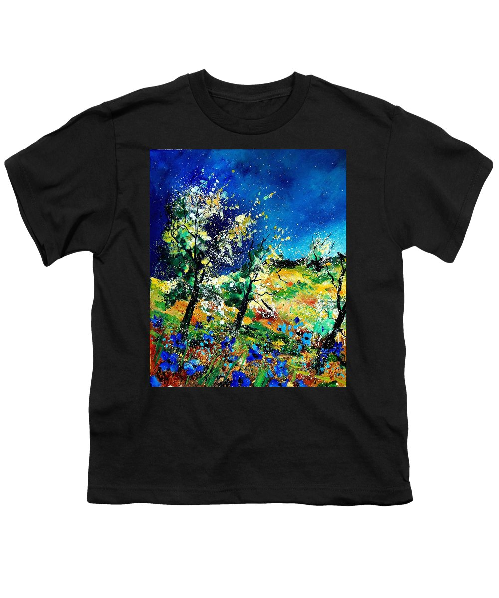 Tree Youth T-Shirt featuring the painting Spring 56 by Pol Ledent