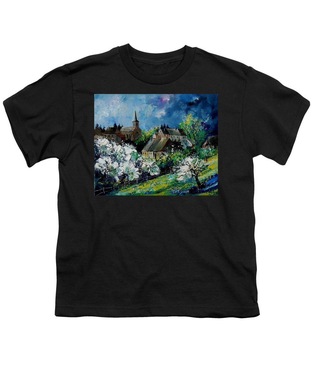 Spring Youth T-Shirt featuring the painting Spring In Fays Famenne by Pol Ledent