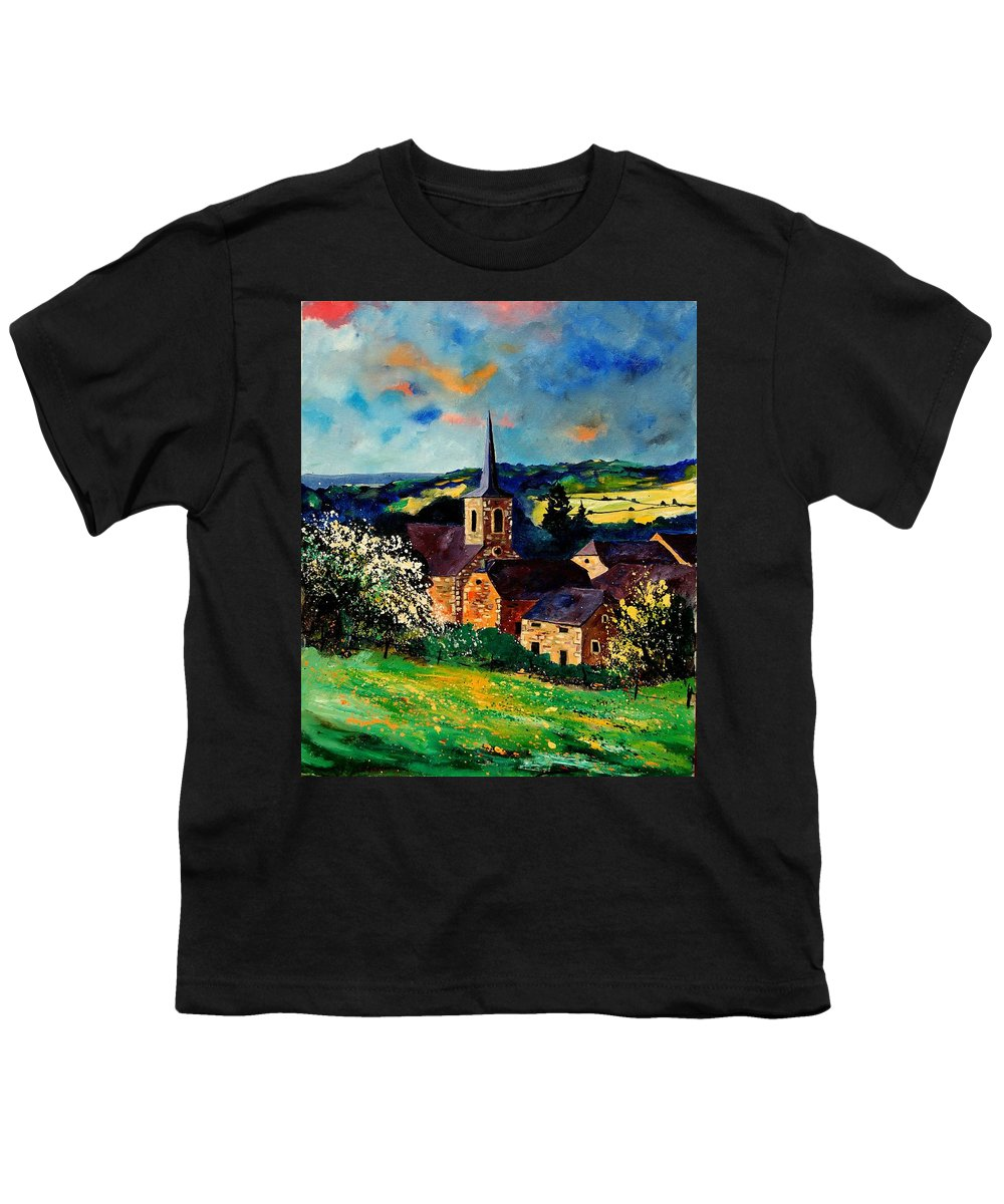 Spring Youth T-Shirt featuring the painting Spring In Gendron by Pol Ledent