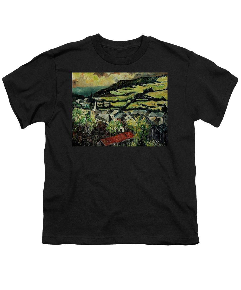 Spring Youth T-Shirt featuring the painting Spring In Vresse Ardennes Belgium by Pol Ledent