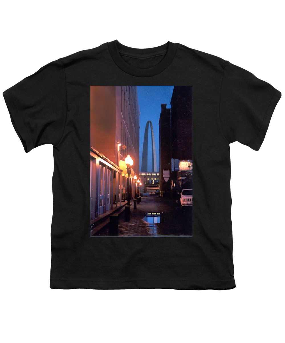 St. Louis Youth T-Shirt featuring the photograph St. Louis Arch by Steve Karol