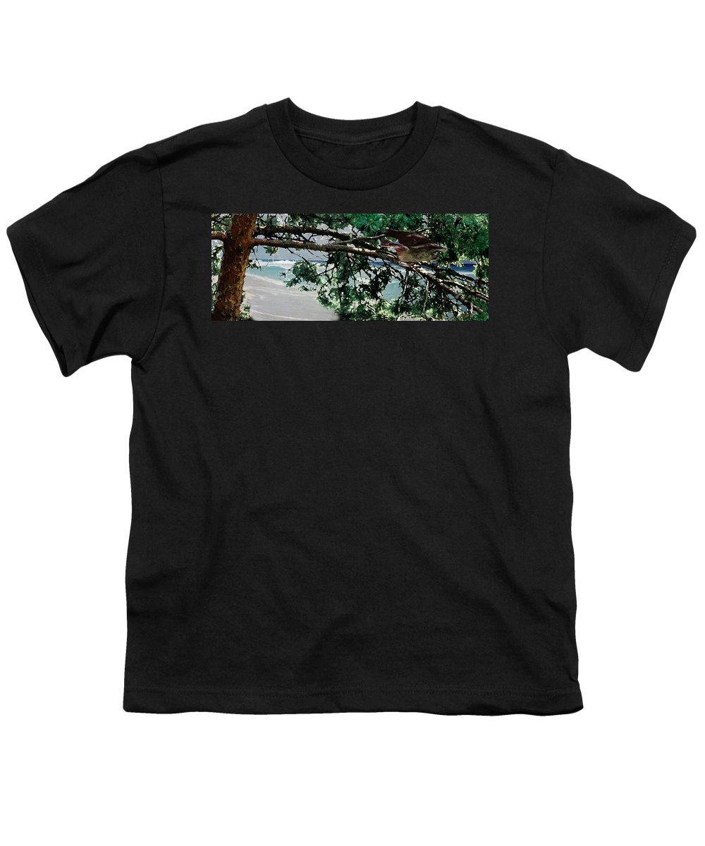 Landscape Youth T-Shirt featuring the painting Stealth by Steve Karol