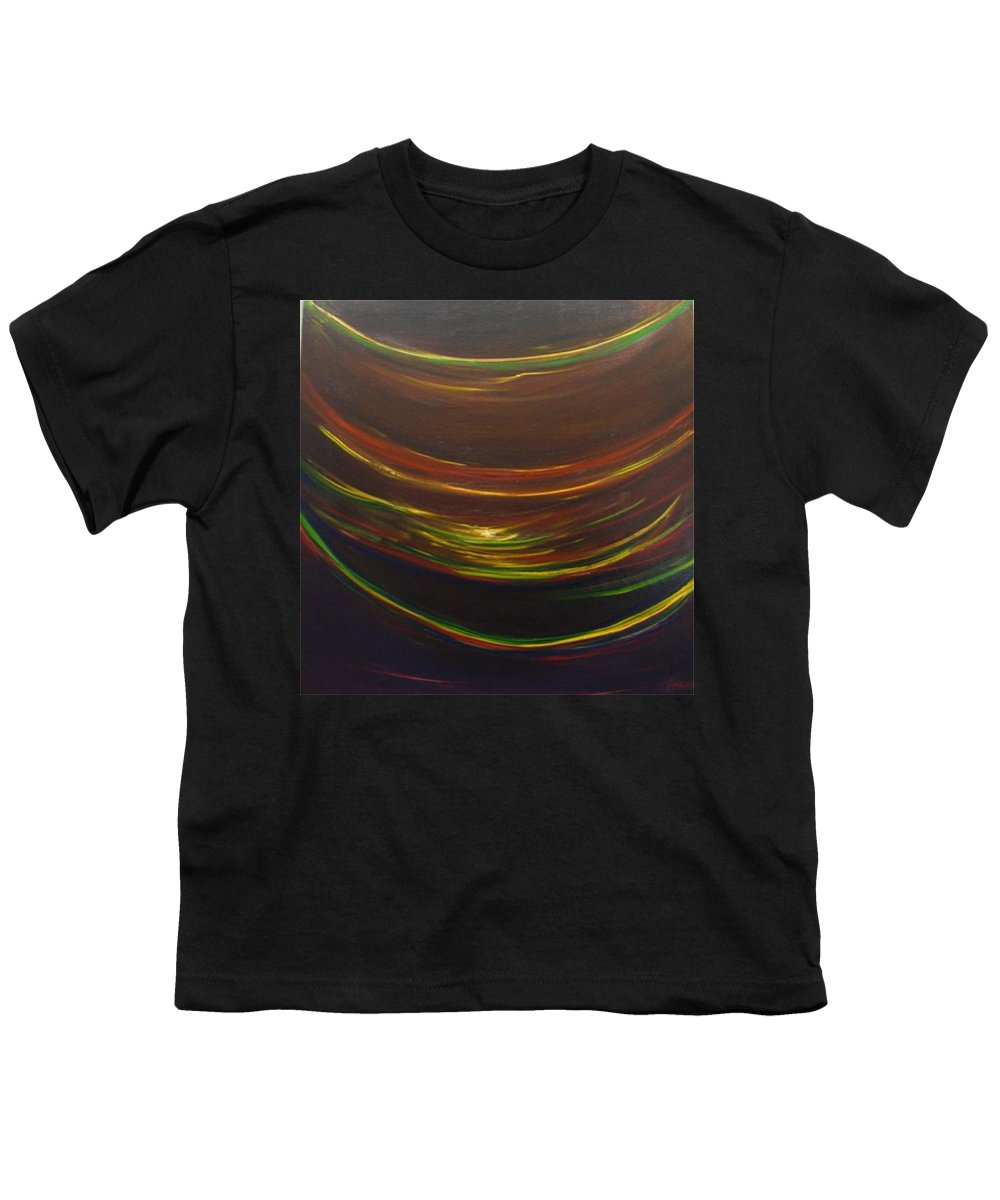 Rainbow Red Yellow Obama Youth T-Shirt featuring the painting Strata Surf by Jack Diamond