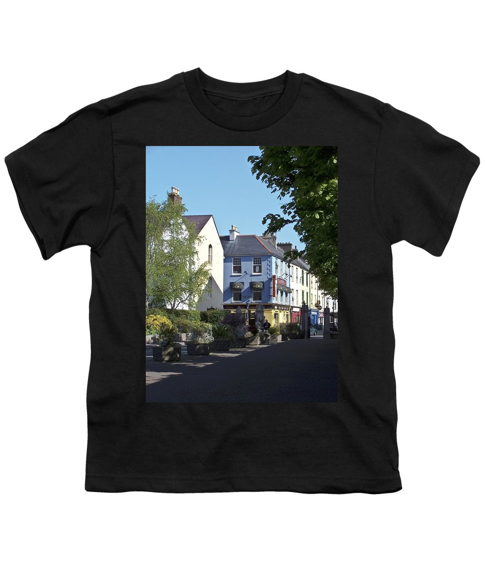 Irish Youth T-Shirt featuring the photograph Street Corner In Tralee Ireland by Teresa Mucha