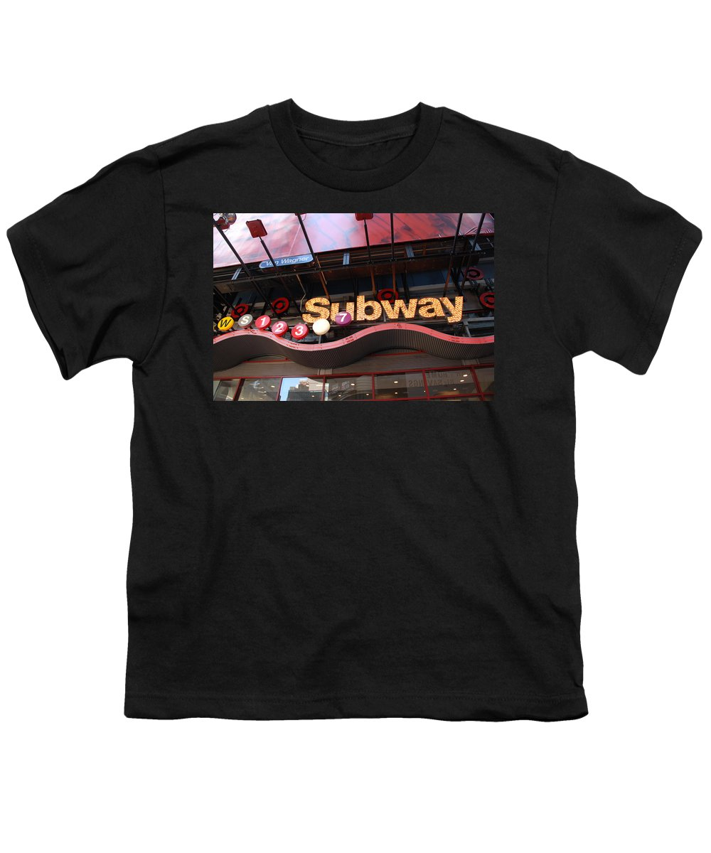 Neon Youth T-Shirt featuring the photograph Subway by Rob Hans
