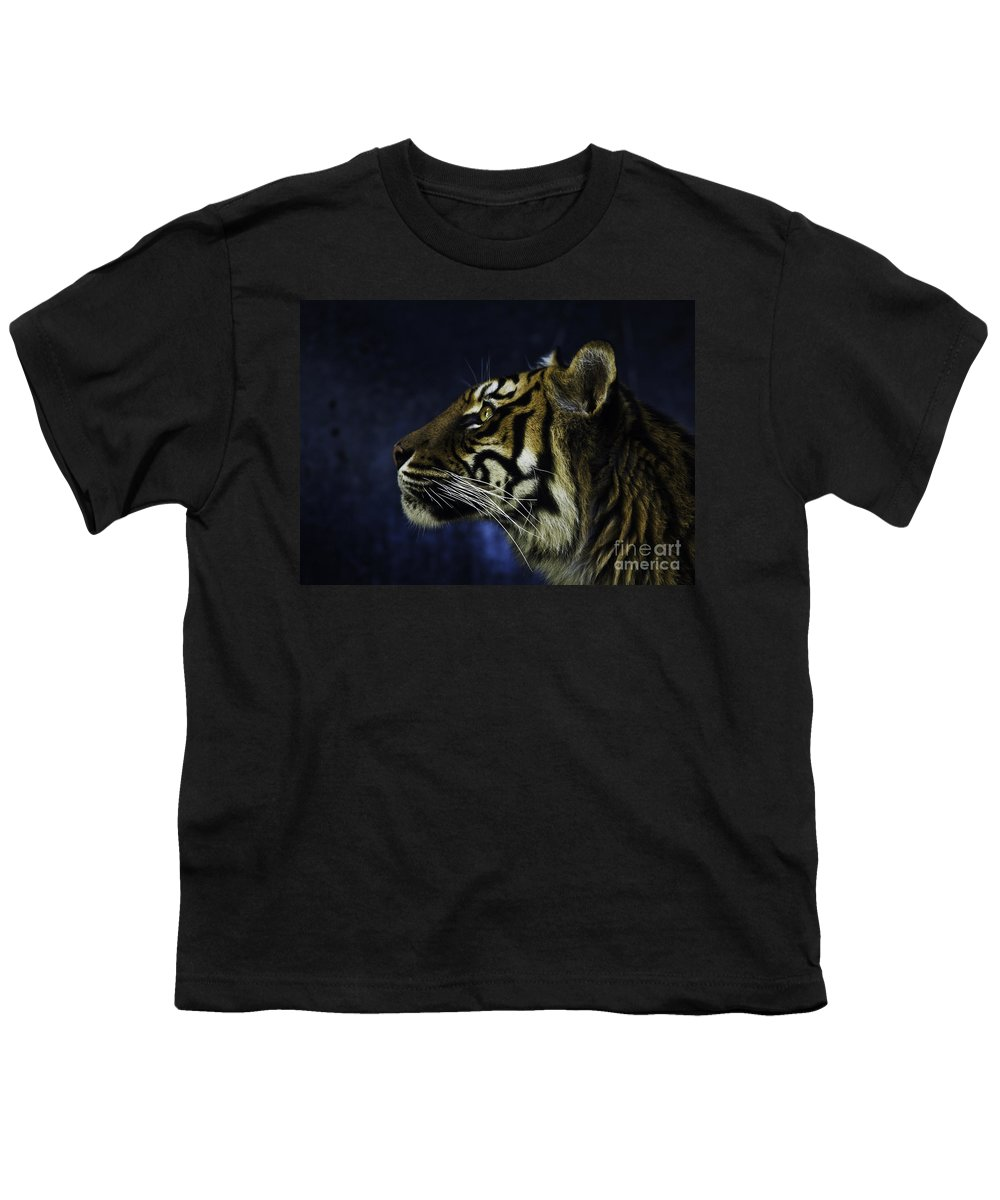 Sumatran Tiger Youth T-Shirt featuring the photograph Sumatran Tiger Profile by Avalon Fine Art Photography