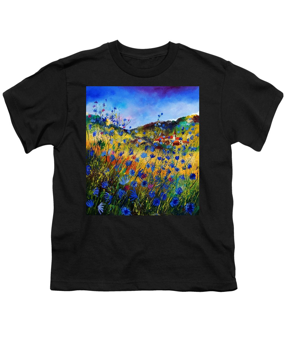 Flowers Youth T-Shirt featuring the painting Summer Glory by Pol Ledent