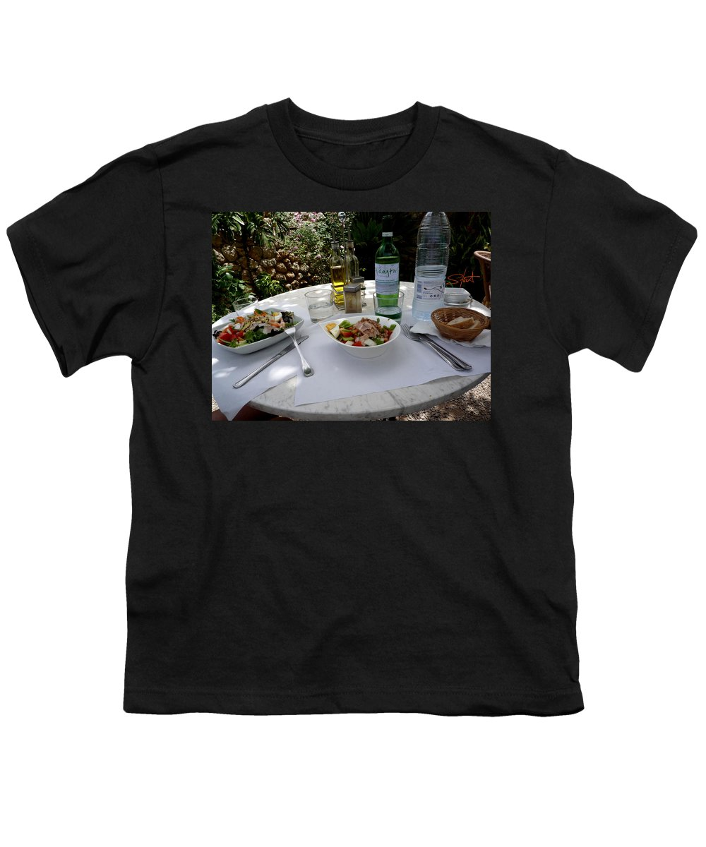 Lunch Youth T-Shirt featuring the photograph Summer Salad by Charles Stuart
