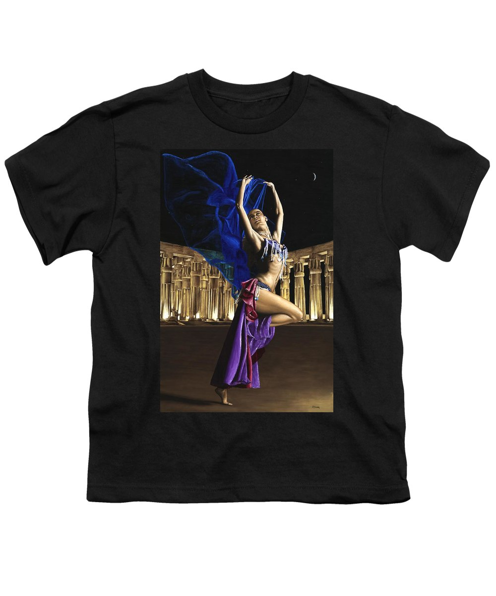 Belly Youth T-Shirt featuring the painting Sun Court Dancer by Richard Young