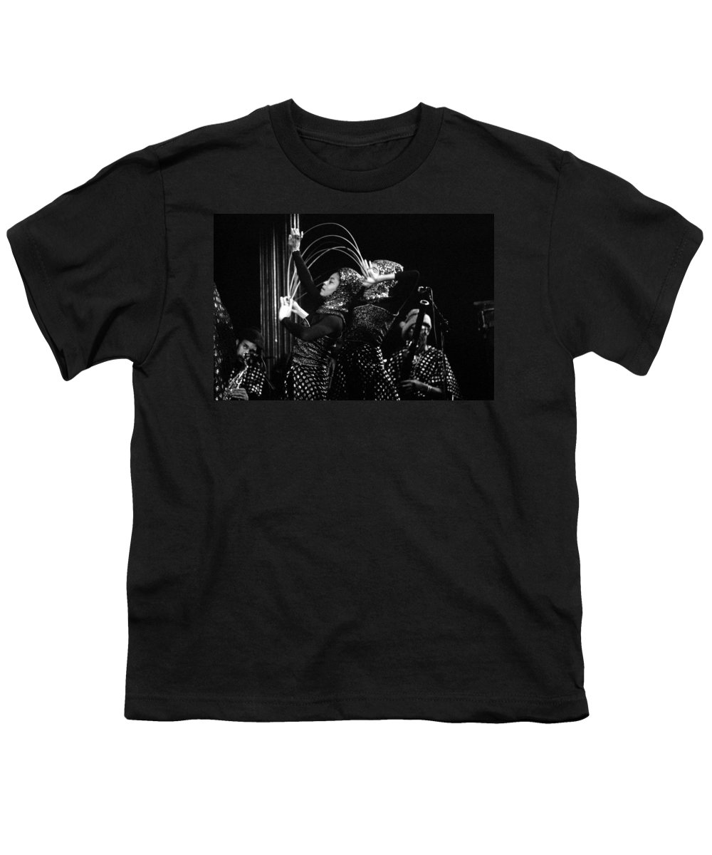 Sun Ra Youth T-Shirt featuring the photograph Sun Ra Arkestra And Dancers by Lee Santa