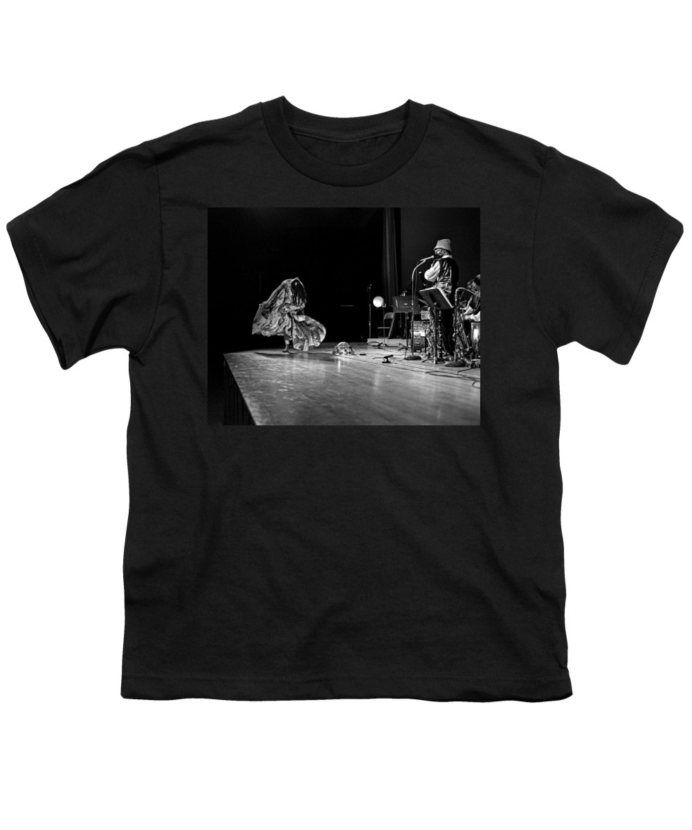 Jazz Youth T-Shirt featuring the photograph Sun Ra Arkestra At Freeborn Hall by Lee Santa