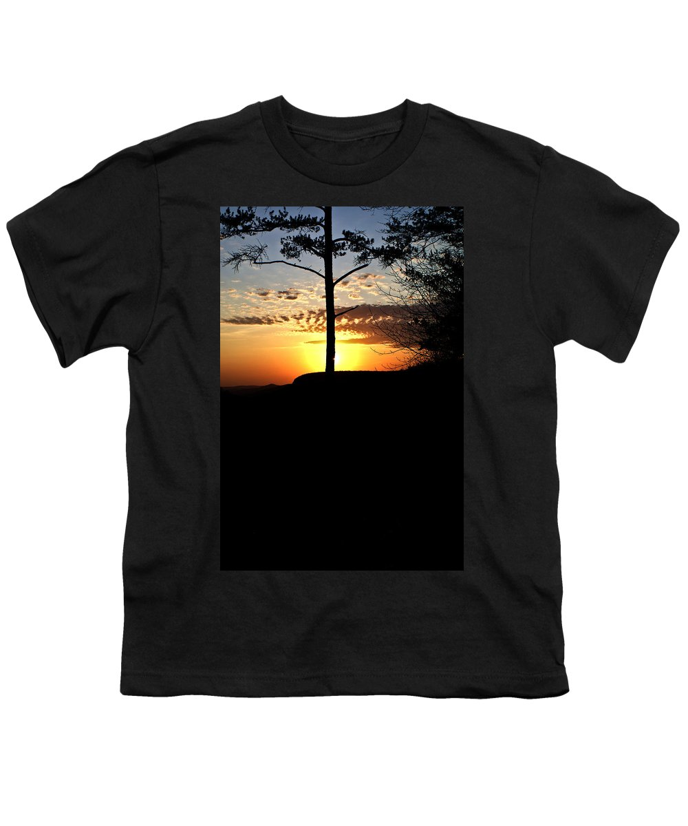 Sunburst Youth T-Shirt featuring the photograph Sunburst Sunset by Douglas Barnett