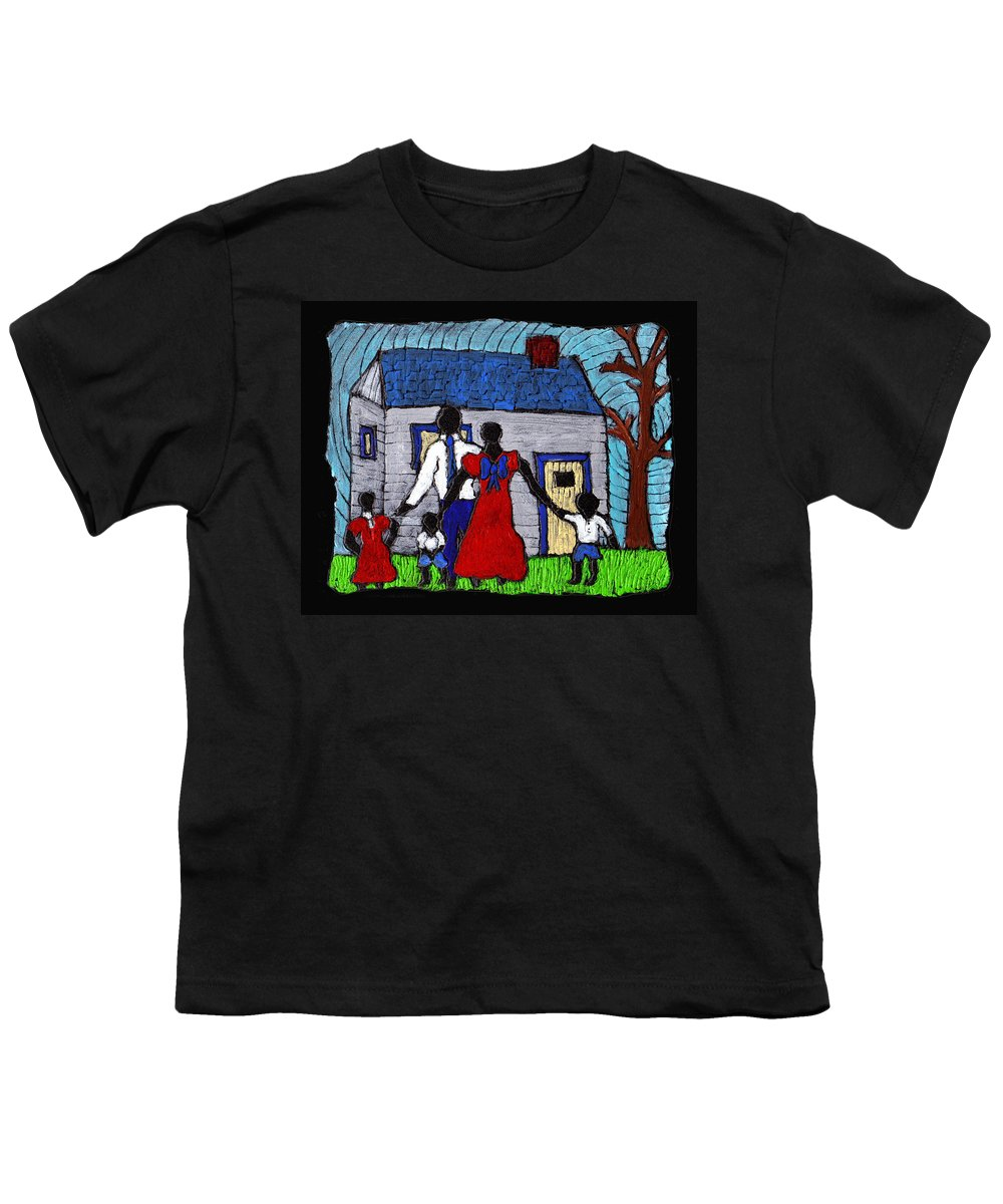 Family Youth T-Shirt featuring the painting Sunday Morning Finest by Wayne Potrafka
