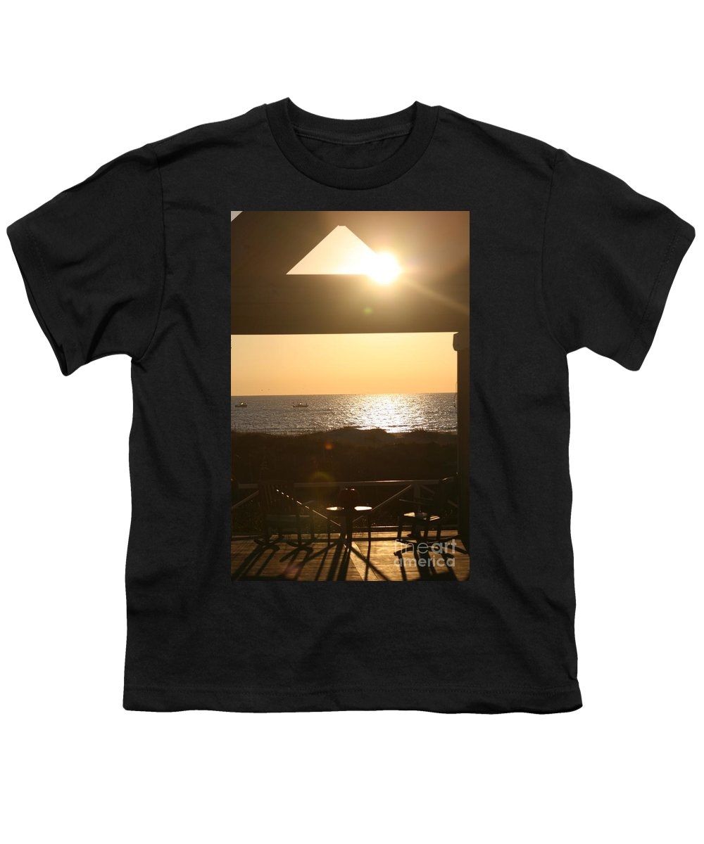 Sunrise Youth T-Shirt featuring the photograph Sunrise Through The Pavilion by Nadine Rippelmeyer