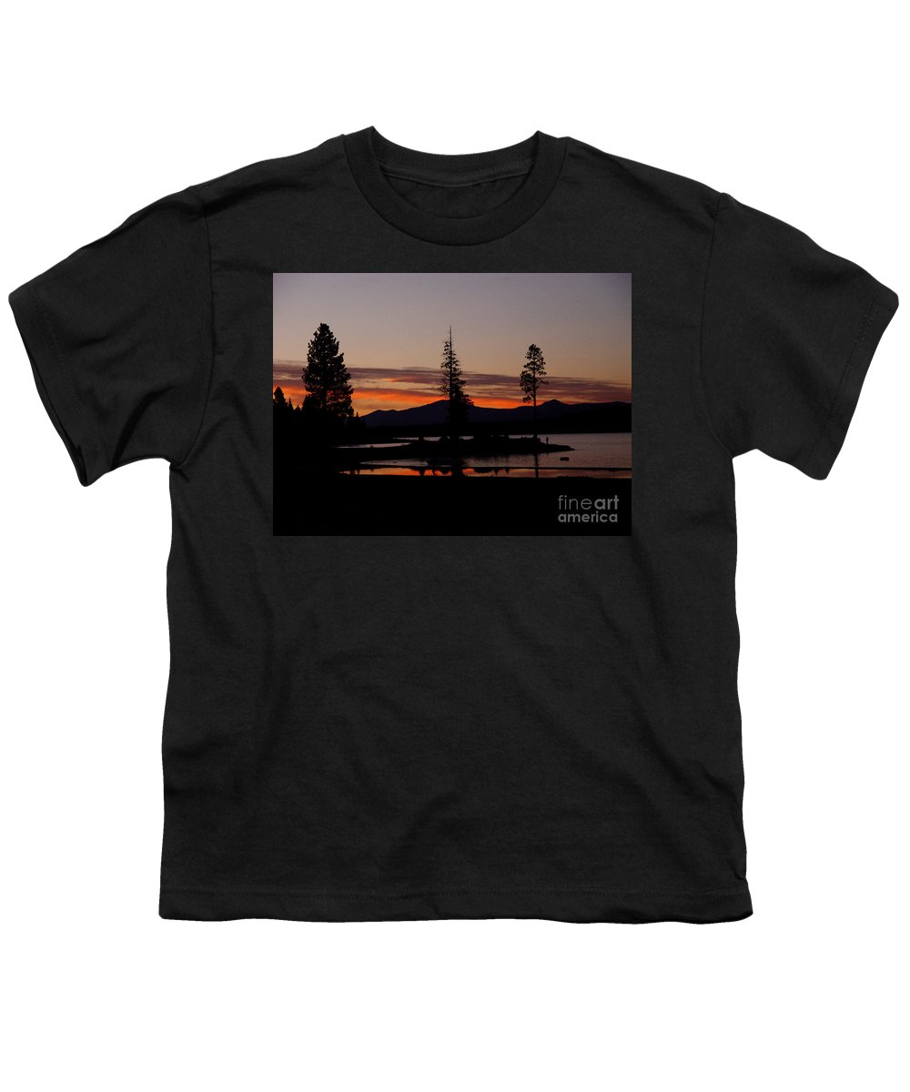 Lake Almanor Youth T-Shirt featuring the photograph Sunset At Lake Almanor 02 by Peter Piatt