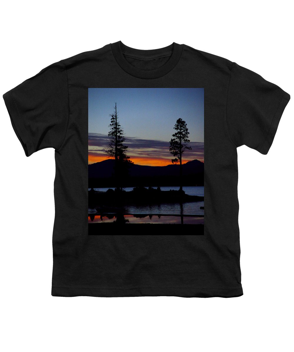 Lake Almanor Youth T-Shirt featuring the photograph Sunset At Lake Almanor by Peter Piatt