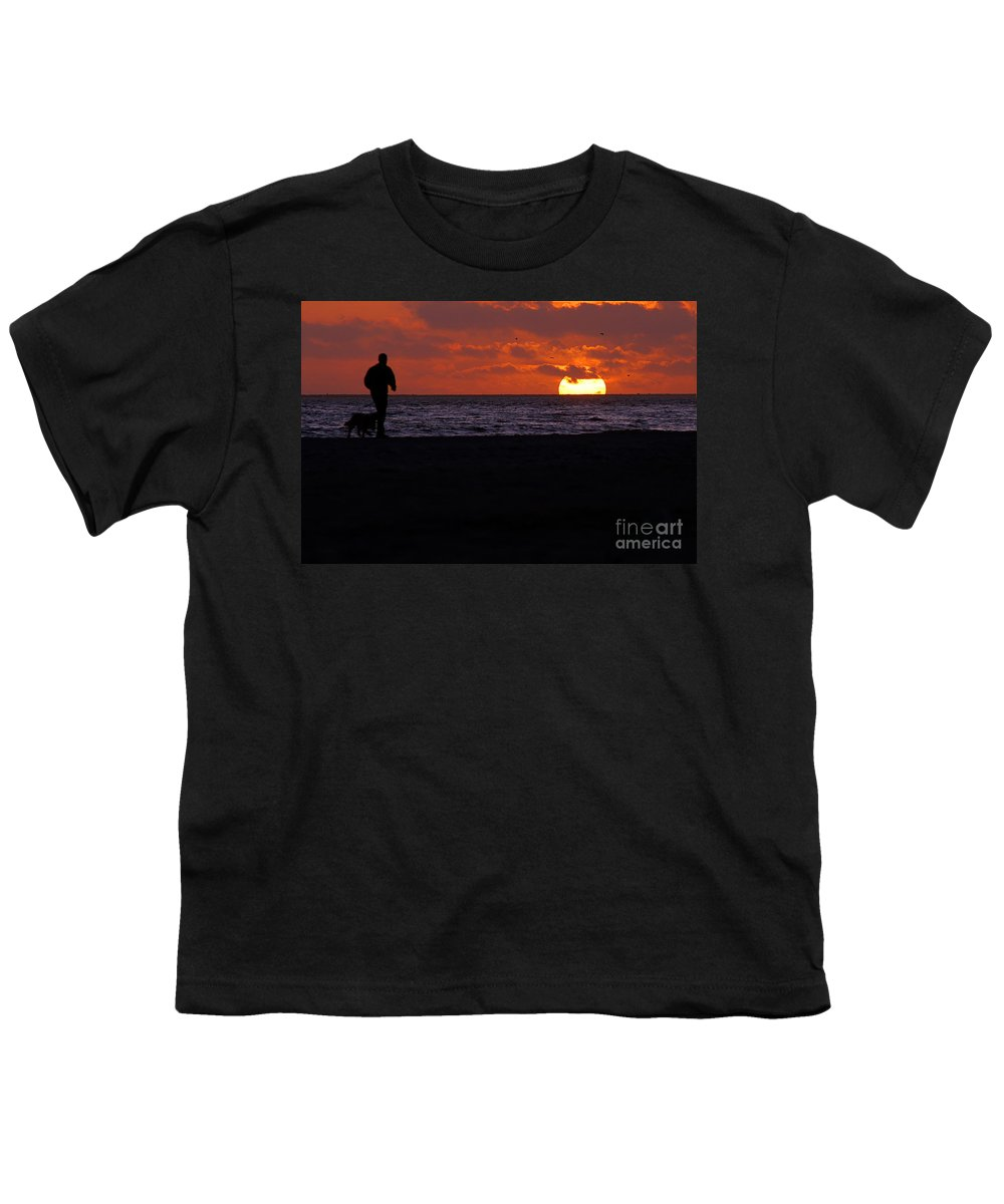Clay Youth T-Shirt featuring the photograph Sunset Run by Clayton Bruster