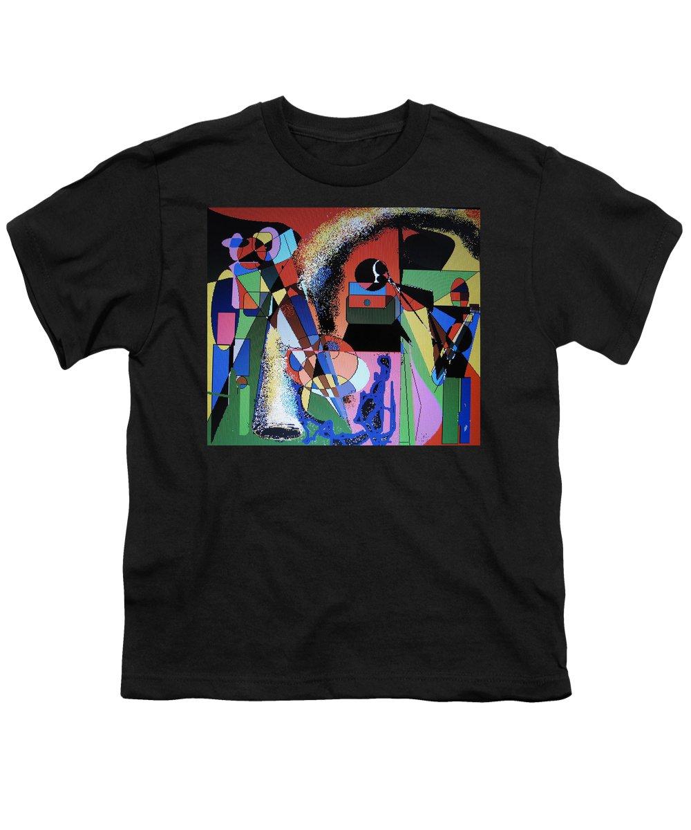 Jazz Youth T-Shirt featuring the digital art Swinging Trio by Ian MacDonald
