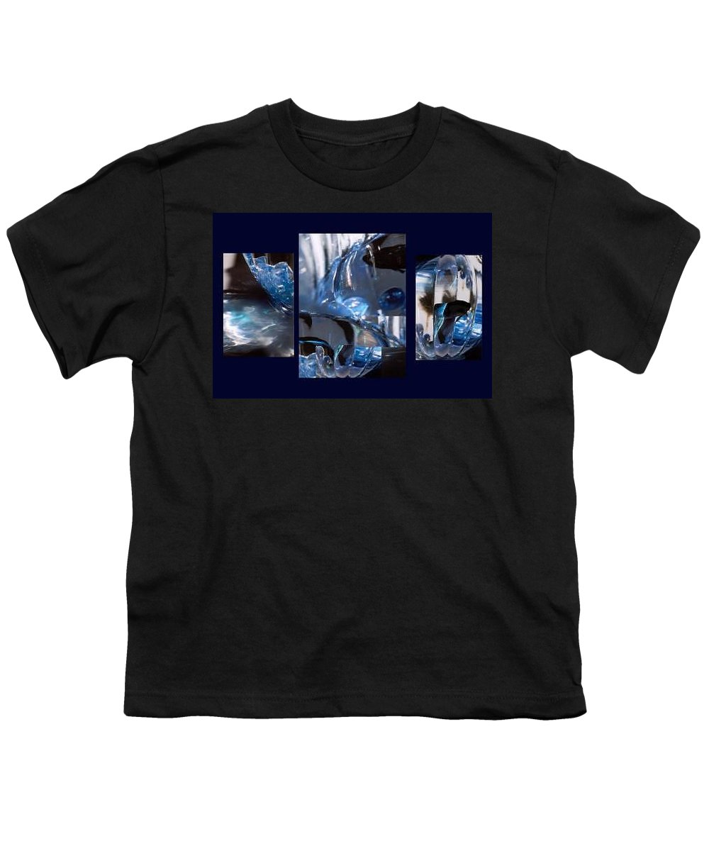 Abstract Of Betta In A Bowl Youth T-Shirt featuring the photograph Swirl by Steve Karol