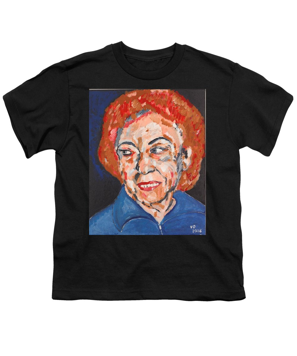Portrait Youth T-Shirt featuring the painting Tamara by Valerie Ornstein