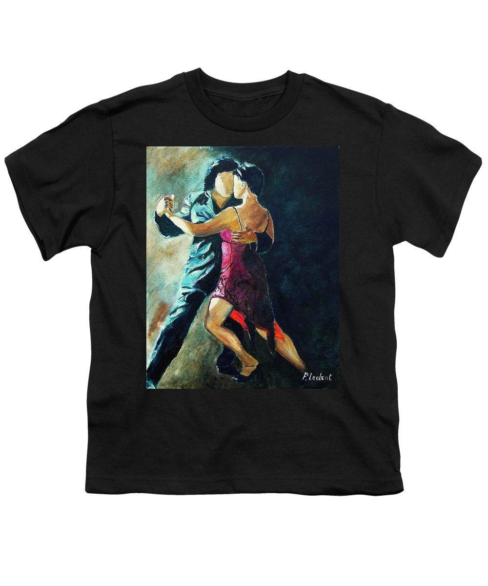 Tango Youth T-Shirt featuring the painting Tango by Pol Ledent
