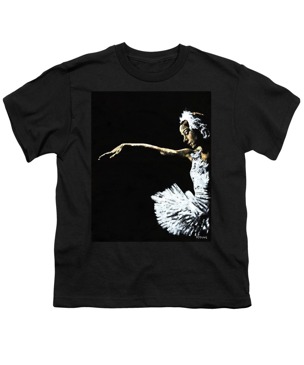 Ballet Youth T-Shirt featuring the painting The Art Of Grace by Richard Young