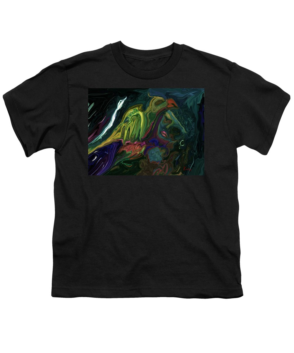 Abstract Youth T-Shirt featuring the digital art The Bird Man by Rabi Khan