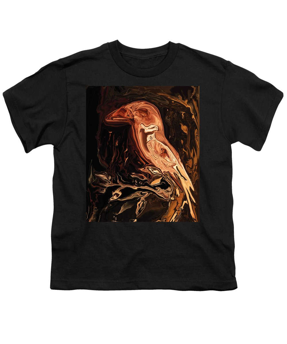 Art Youth T-Shirt featuring the digital art The Bird Unknown 2 by Rabi Khan