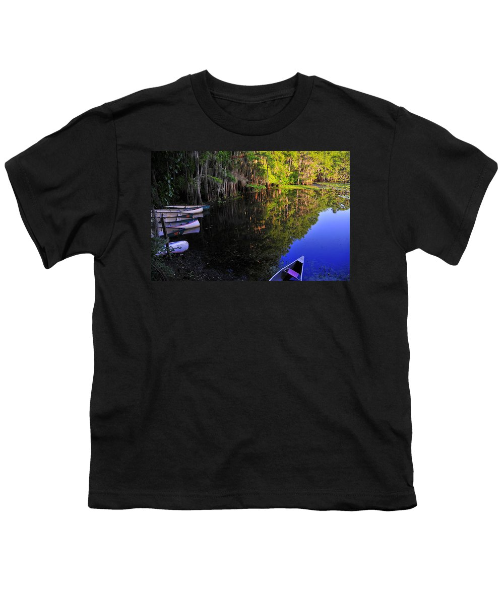 Skip Hunt Youth T-Shirt featuring the photograph The Black Lagoon by Skip Hunt