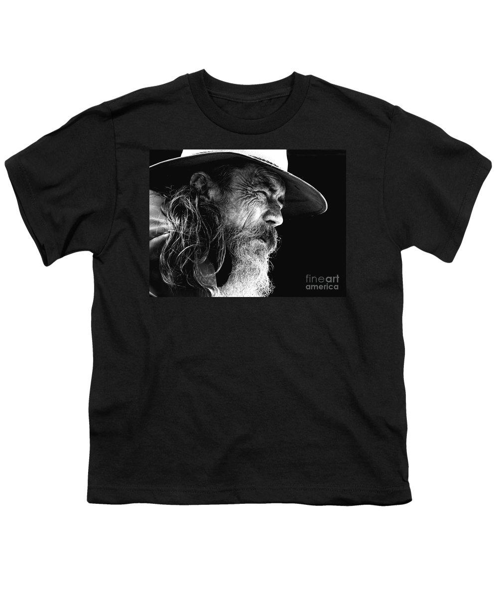 Australian Bushman Hat Youth T-Shirt featuring the photograph The Bushman by Sheila Smart Fine Art Photography