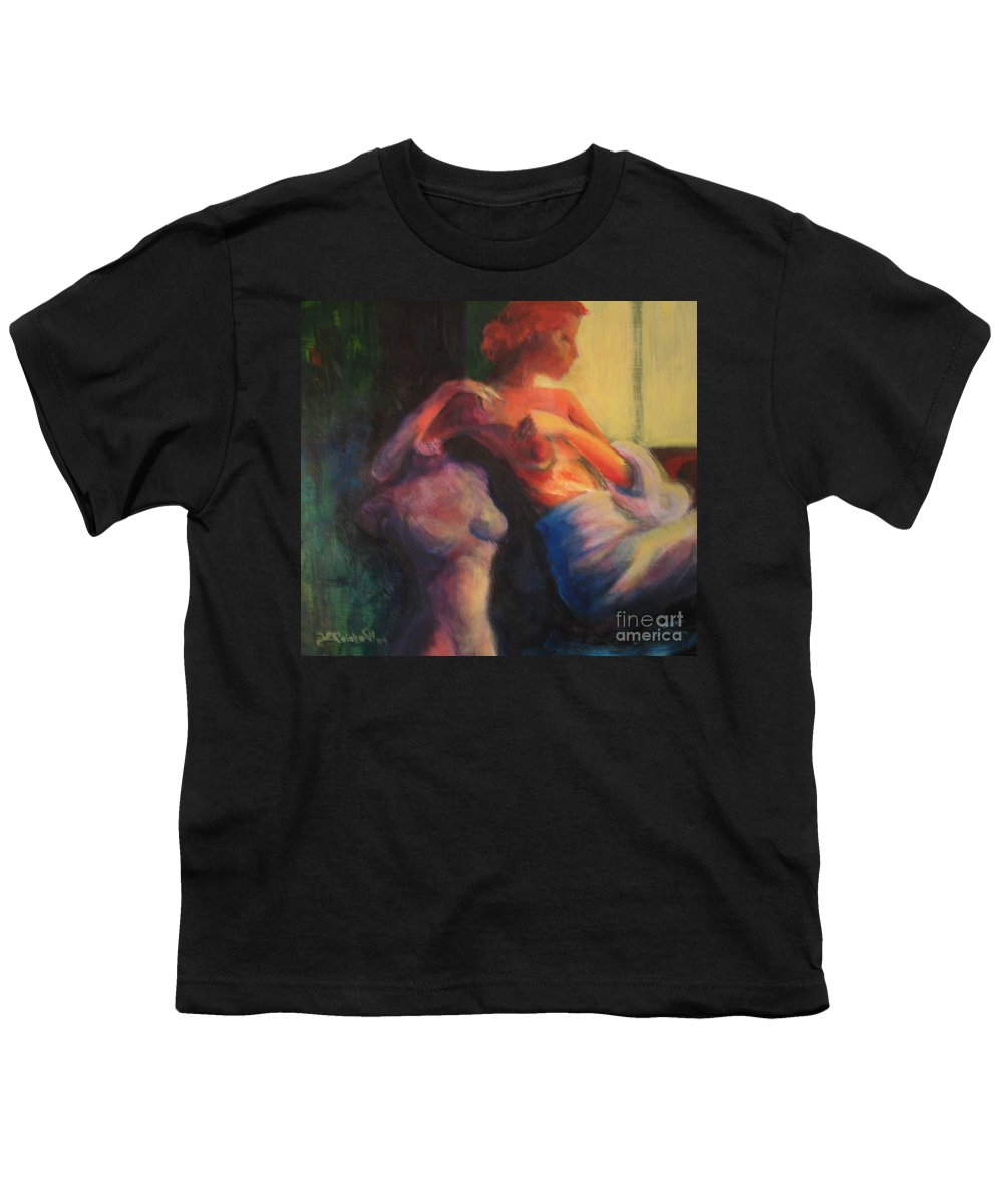 Bright Youth T-Shirt featuring the painting The Confidante by Jason Reinhardt