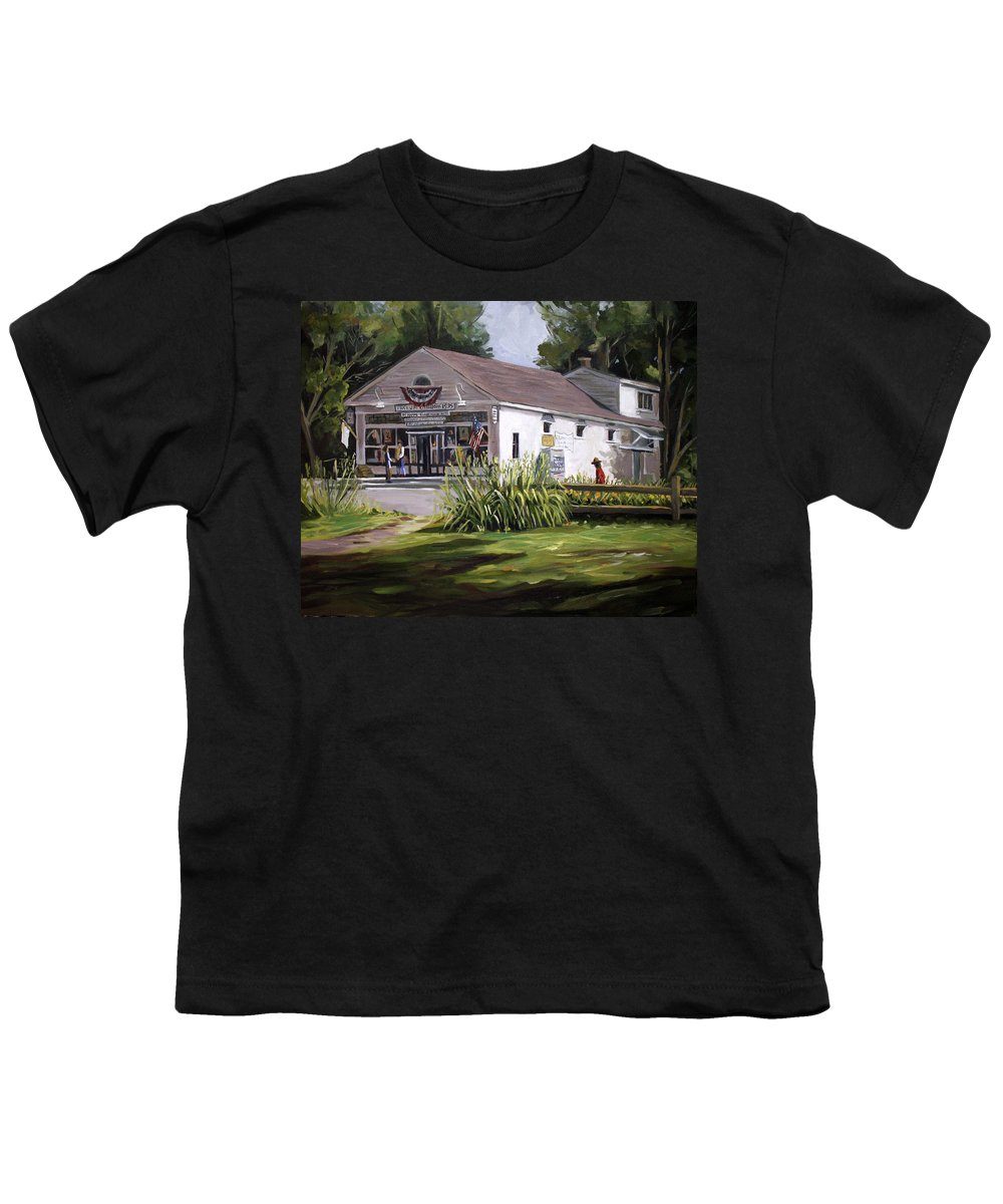 Buildings Youth T-Shirt featuring the painting The Country Store by Nancy Griswold