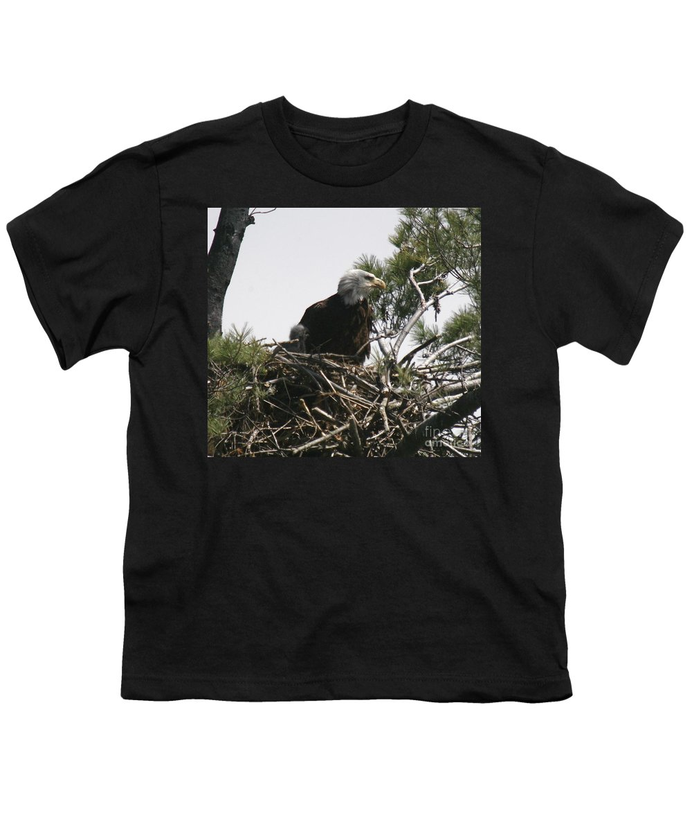 Eagle Youth T-Shirt featuring the photograph The Eagle Eye by Robert Pearson